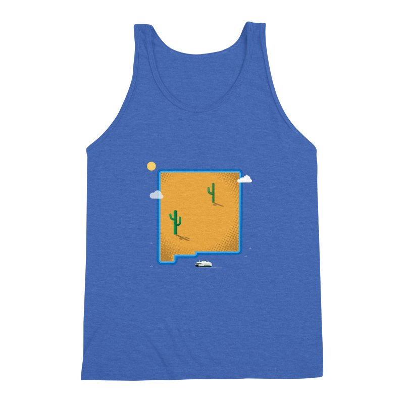 New Mexico Island Men's Triblend Tank by Illustrations by Phil