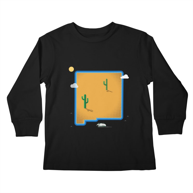 New Mexico Island Kids Longsleeve T-Shirt by Illustrations by Phil
