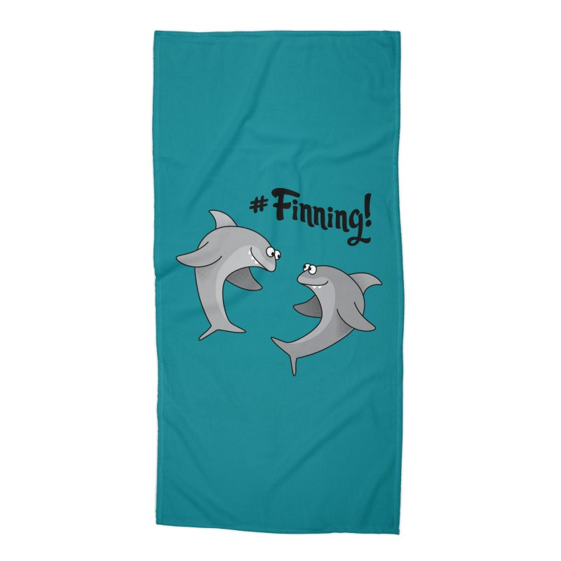 #Finning! Accessories Beach Towel by Phillustrations's Artist Shop