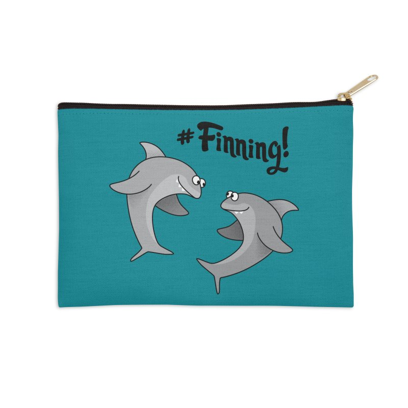 #Finning! Accessories Zip Pouch by Phillustrations's Artist Shop
