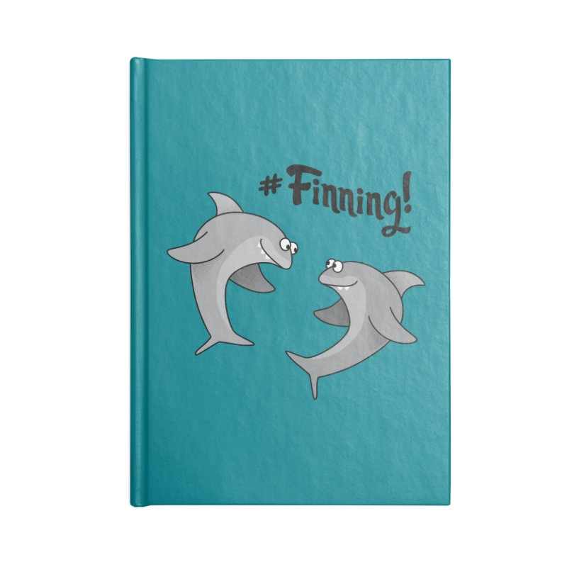 #Finning! Accessories Notebook by Phillustrations's Artist Shop