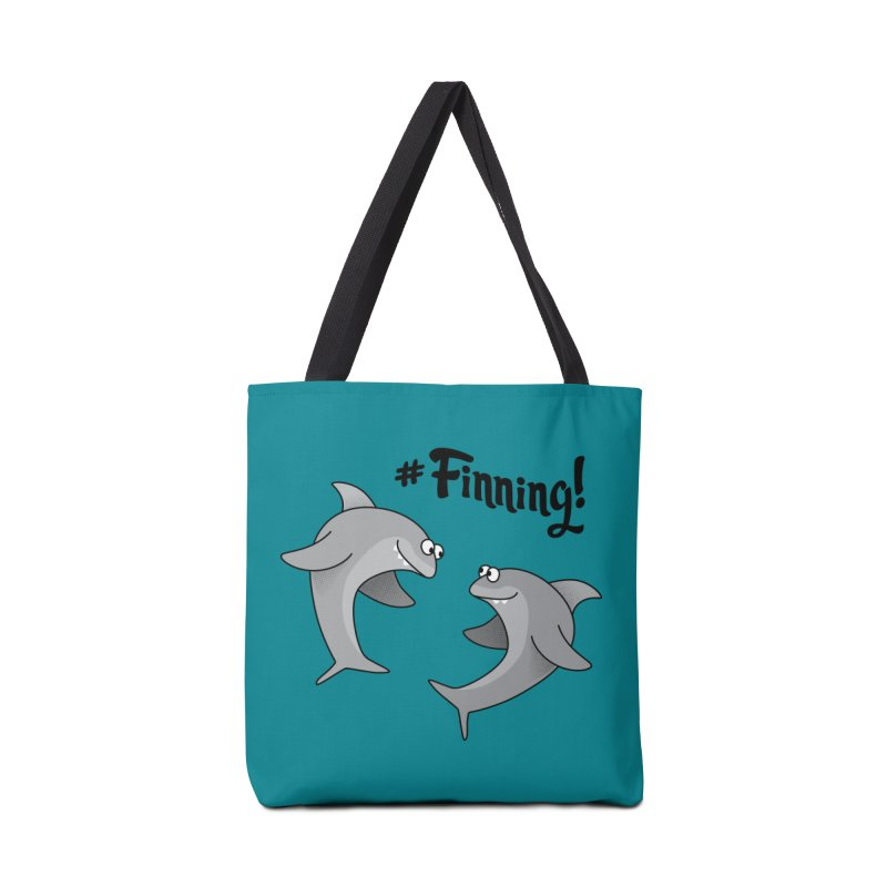 #Finning! Accessories Bag by Phillustrations's Artist Shop