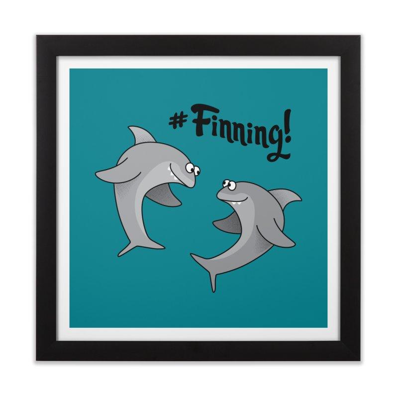 #Finning! Home Framed Fine Art Print by Phillustrations's Artist Shop