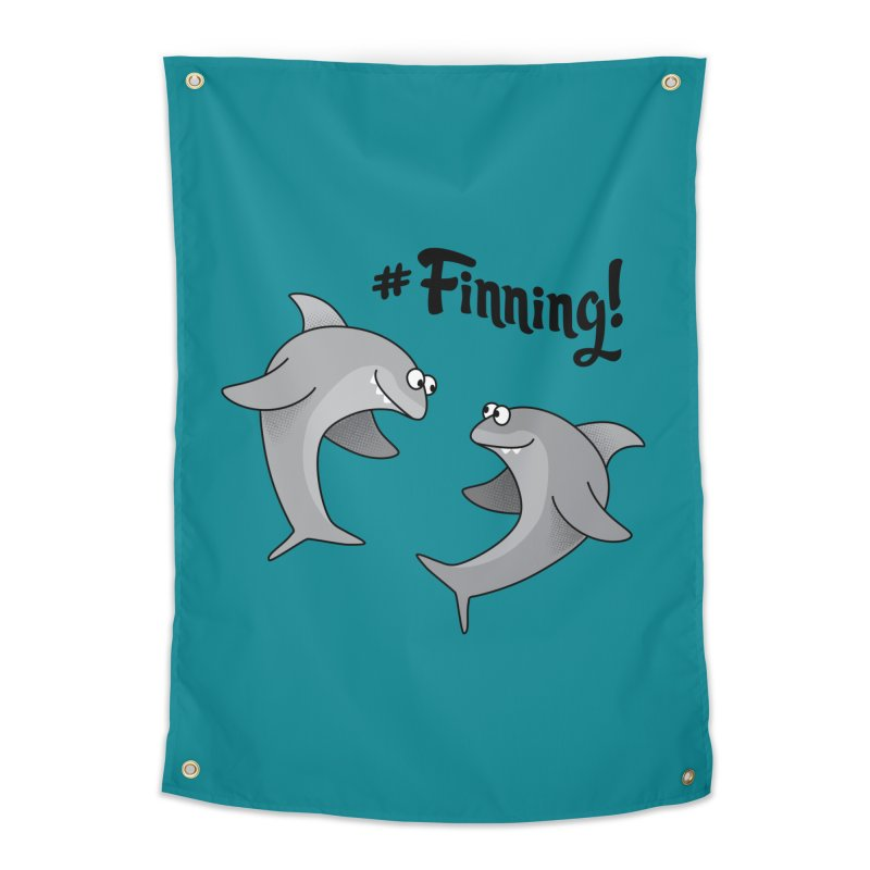 #Finning! Home Tapestry by Phillustrations's Artist Shop