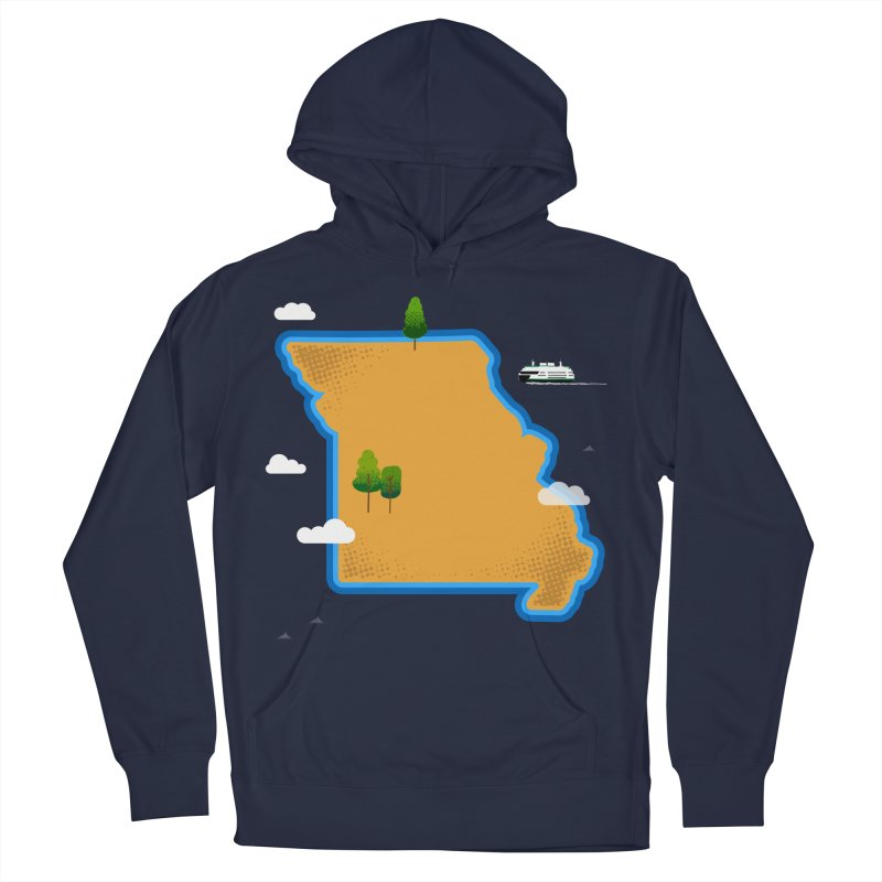 Missouri Island Men's French Terry Pullover Hoody by Illustrations by Phil