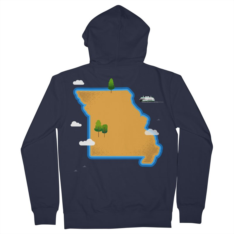 Missouri Island Women's French Terry Zip-Up Hoody by Illustrations by Phil