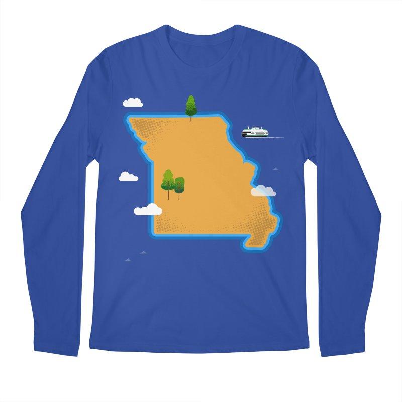 Missouri Island Men's Regular Longsleeve T-Shirt by Illustrations by Phil