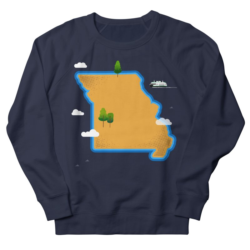 Missouri Island Women's French Terry Sweatshirt by Illustrations by Phil