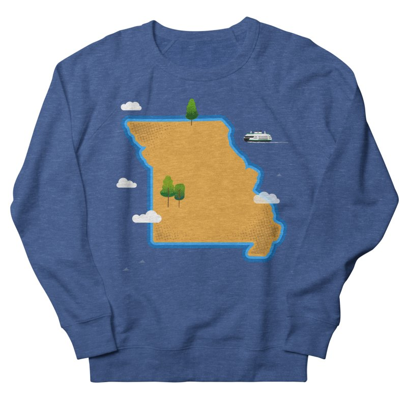 Missouri Island Men's French Terry Sweatshirt by Illustrations by Phil