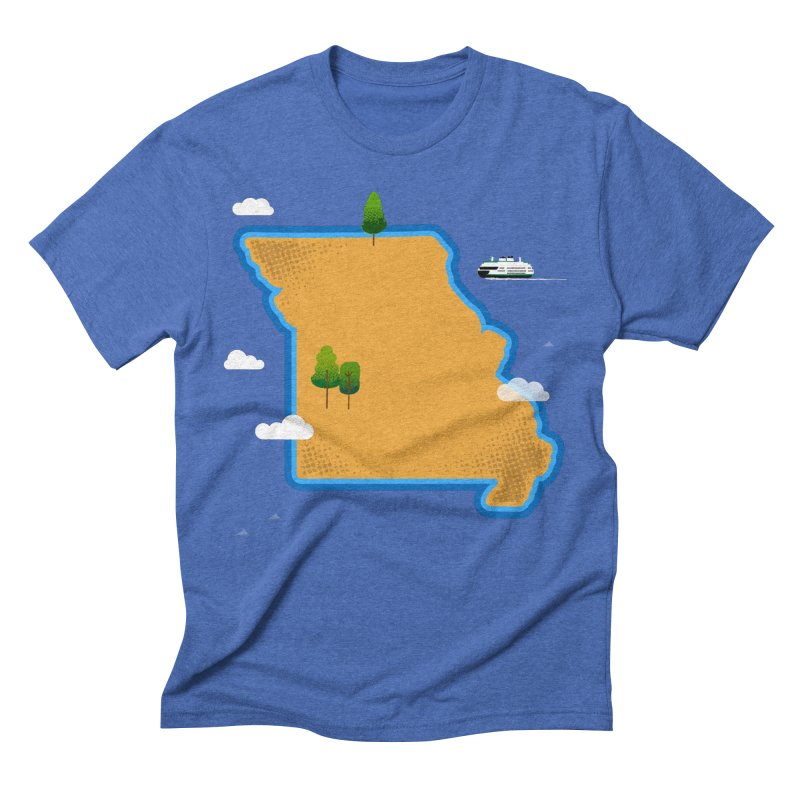 Missouri Island Men's Triblend T-Shirt by Illustrations by Phil