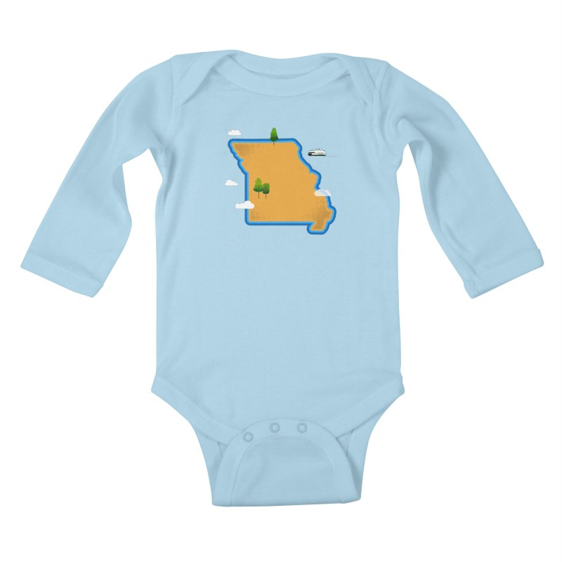 Missouri Island Kids Baby Longsleeve Bodysuit by Illustrations by Phil