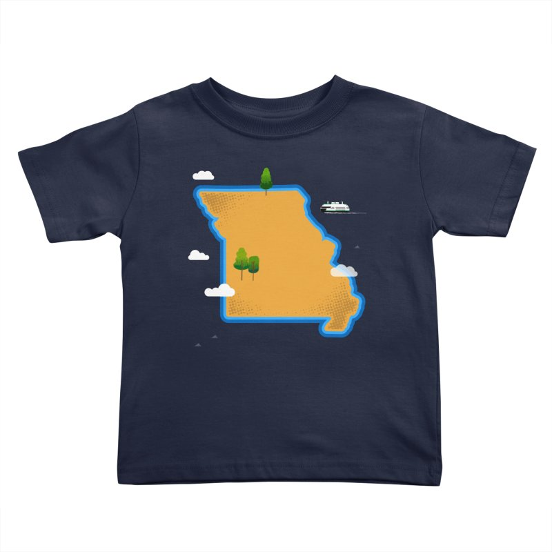 Missouri Island Kids Toddler T-Shirt by Illustrations by Phil