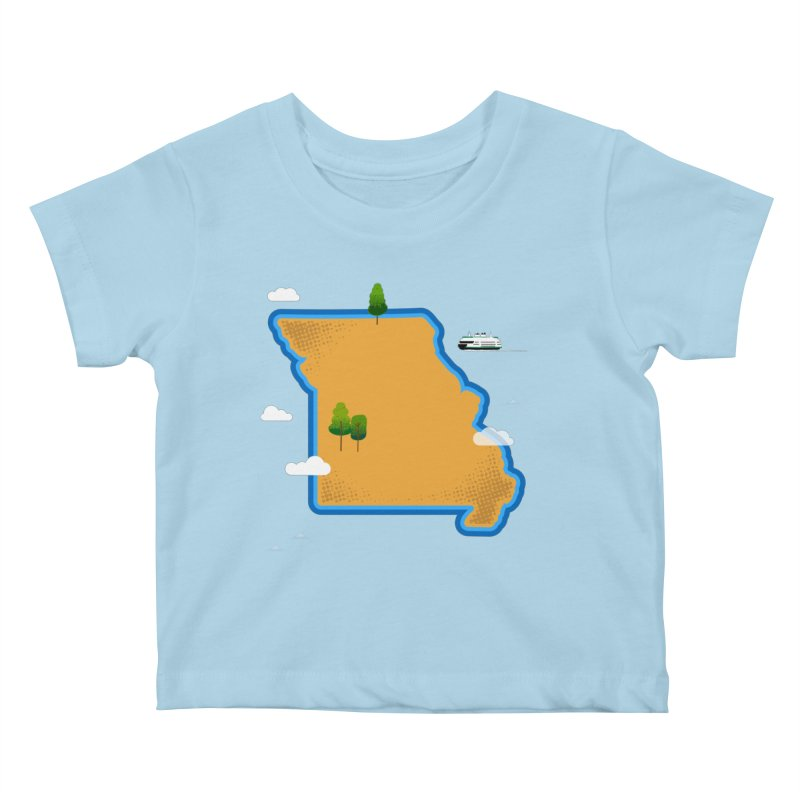 Missouri Island Kids Baby T-Shirt by Illustrations by Phil