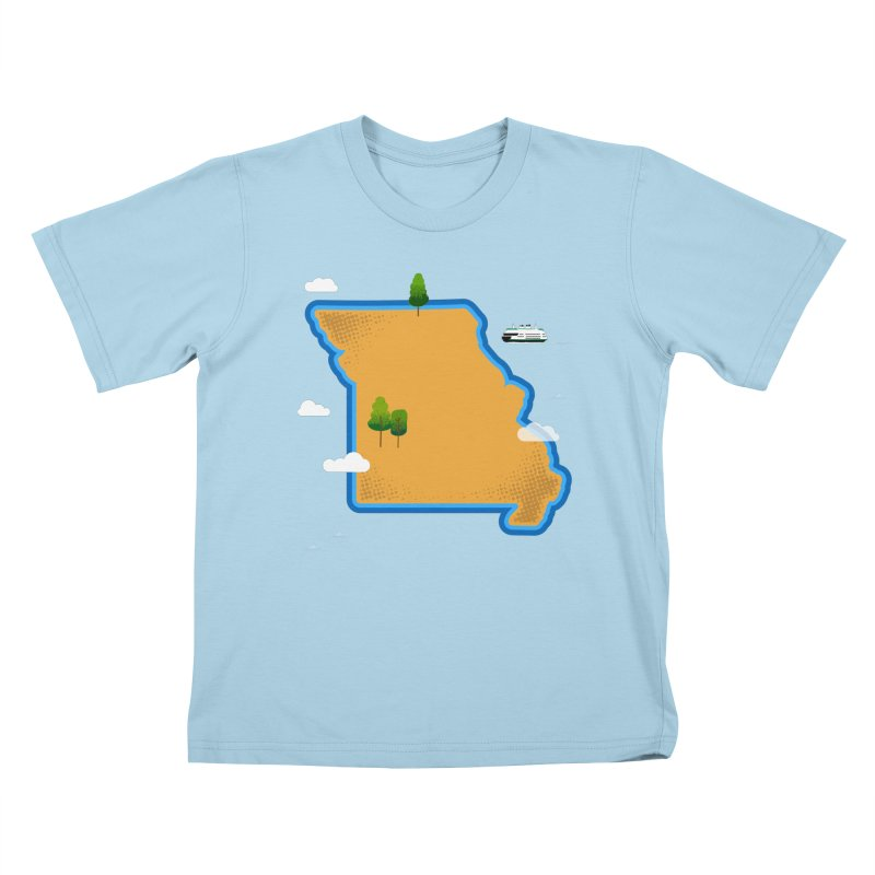 Missouri Island Kids T-Shirt by Illustrations by Phil