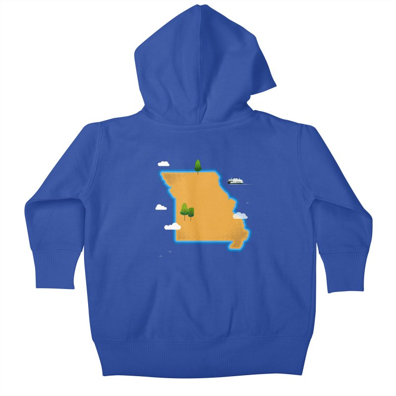Missouri Island Kids Baby Zip-Up Hoody by Illustrations by Phil