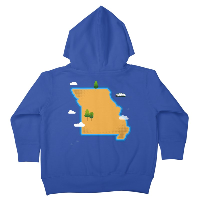 Missouri Island Kids Toddler Zip-Up Hoody by Illustrations by Phil
