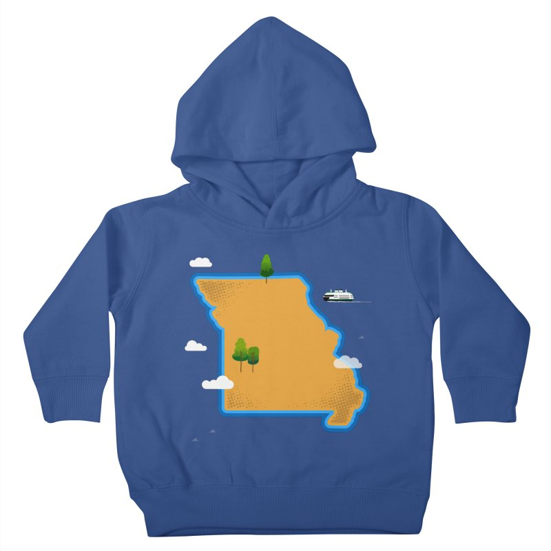 Missouri Island Kids Toddler Pullover Hoody by Illustrations by Phil