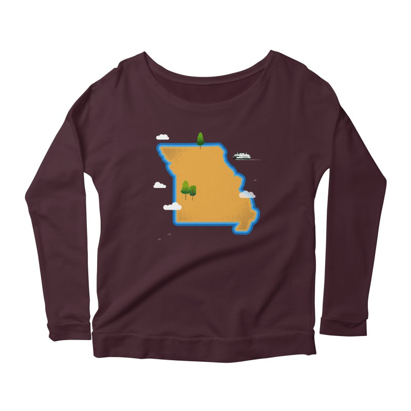 Missouri Island Women's Scoop Neck Longsleeve T-Shirt by Illustrations by Phil