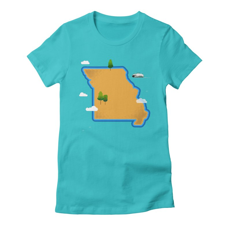 Missouri Island Women's Fitted T-Shirt by Illustrations by Phil