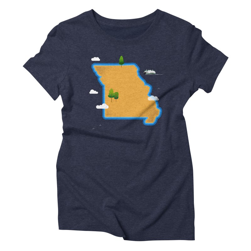 Missouri Island Women's Triblend T-Shirt by Illustrations by Phil