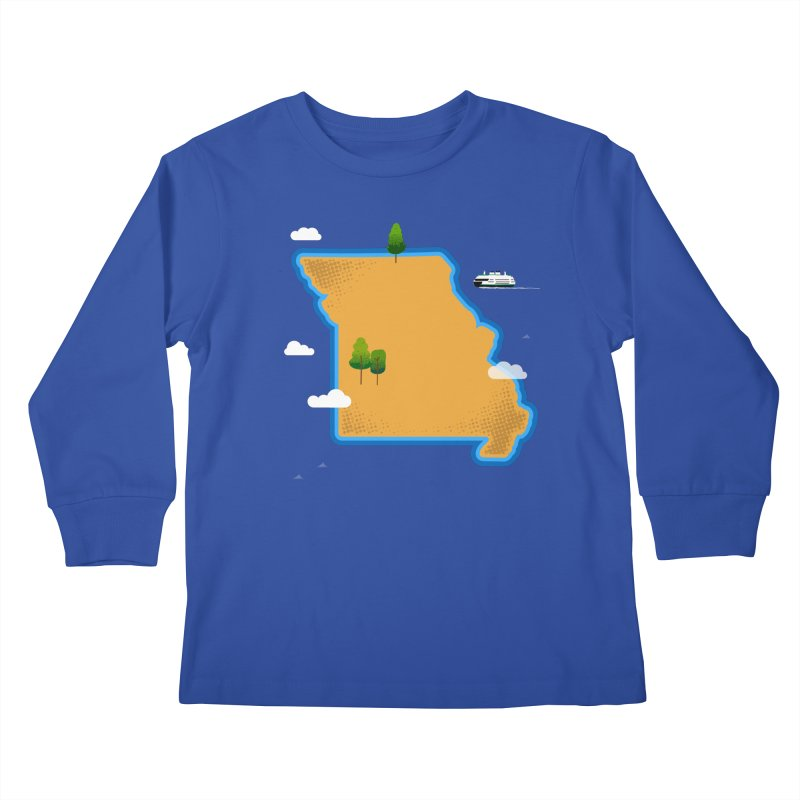 Missouri Island Kids Longsleeve T-Shirt by Illustrations by Phil