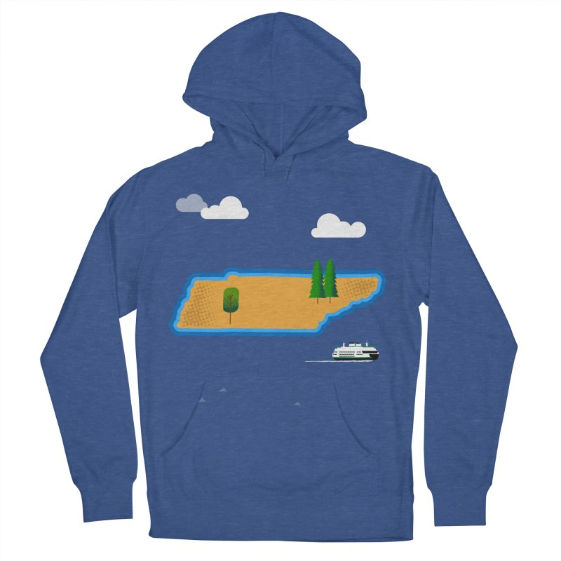 Tennessee Island Men's French Terry Pullover Hoody by Illustrations by Phil