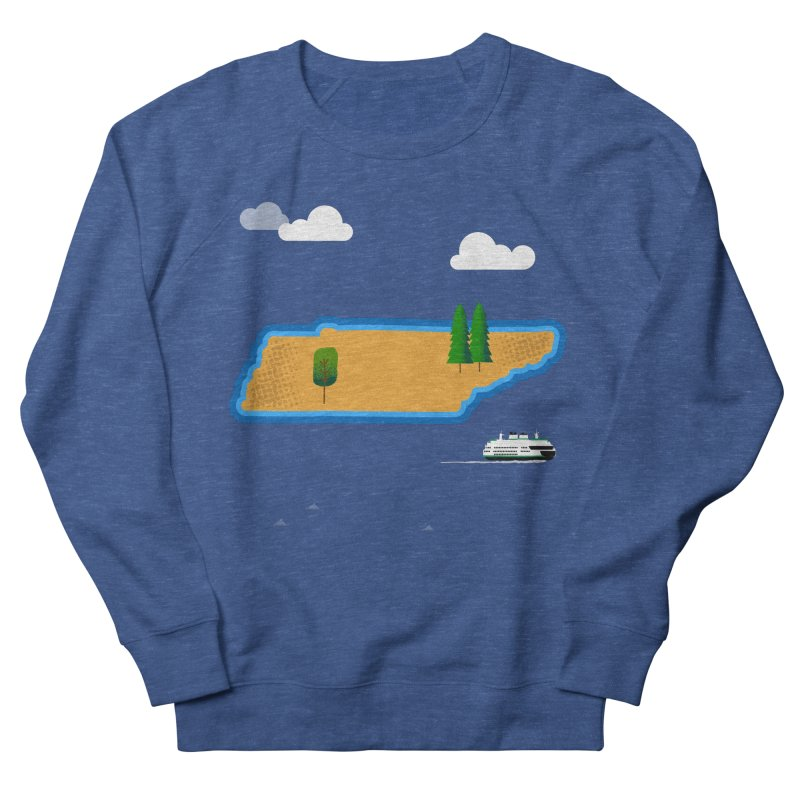 Tennessee Island Men's French Terry Sweatshirt by Illustrations by Phil