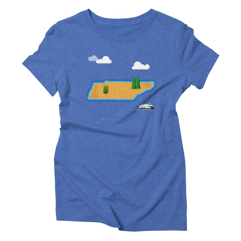 Tennessee Island Women's Triblend T-Shirt by Illustrations by Phil