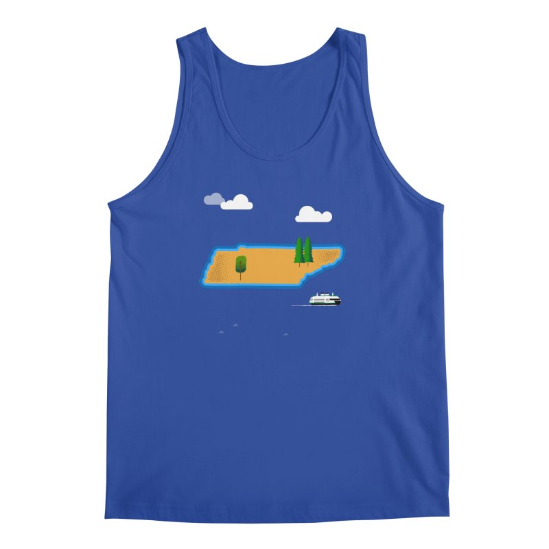 Tennessee Island Men's Regular Tank by Illustrations by Phil