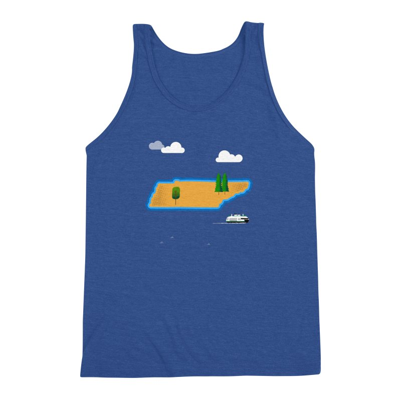 Tennessee Island Men's Triblend Tank by Illustrations by Phil