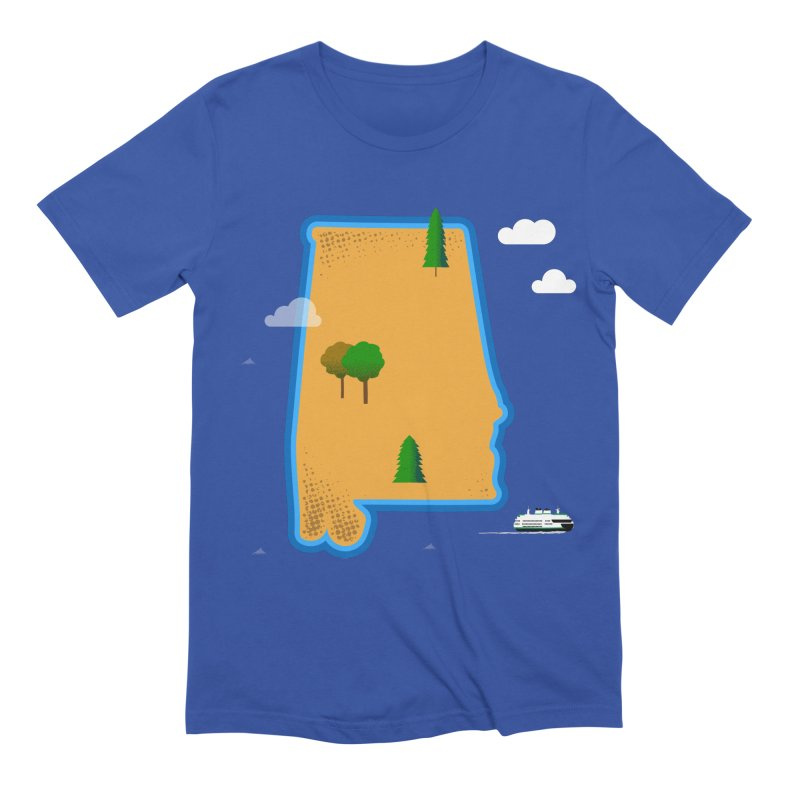 Alabama Island Men's T-Shirt by Illustrations by Phil