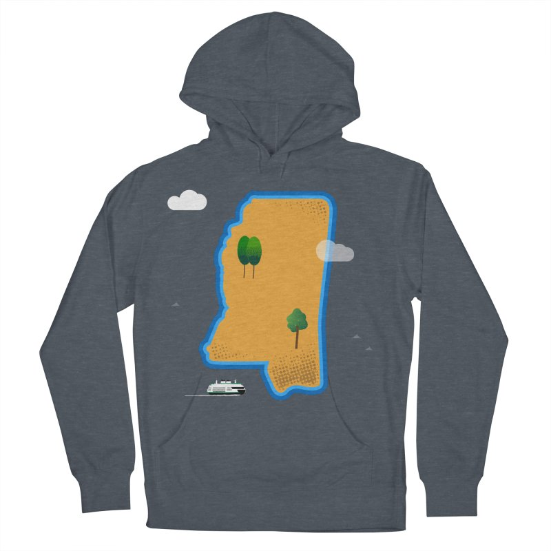 Mississippi Island Men's French Terry Pullover Hoody by Illustrations by Phil