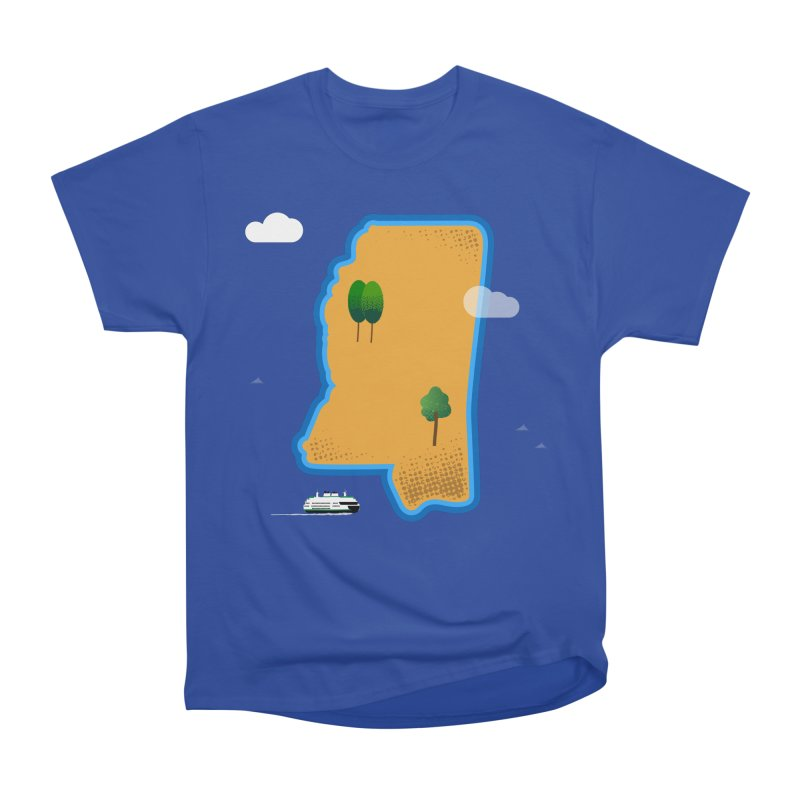Mississippi Island Men's Heavyweight T-Shirt by Illustrations by Phil