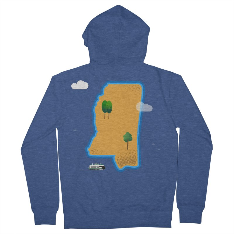 Mississippi Island Women's French Terry Zip-Up Hoody by Illustrations by Phil