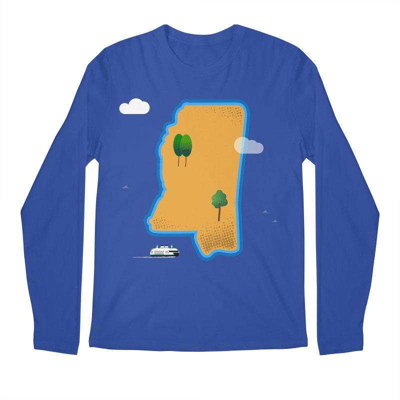 Mississippi Island Men's Regular Longsleeve T-Shirt by Illustrations by Phil