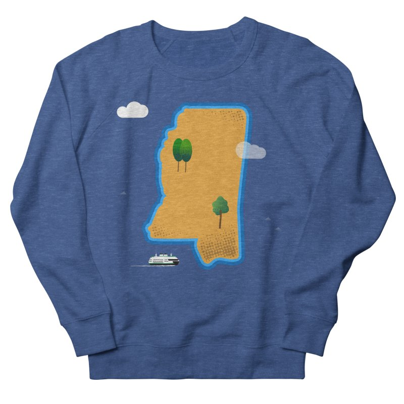 Mississippi Island Men's French Terry Sweatshirt by Illustrations by Phil