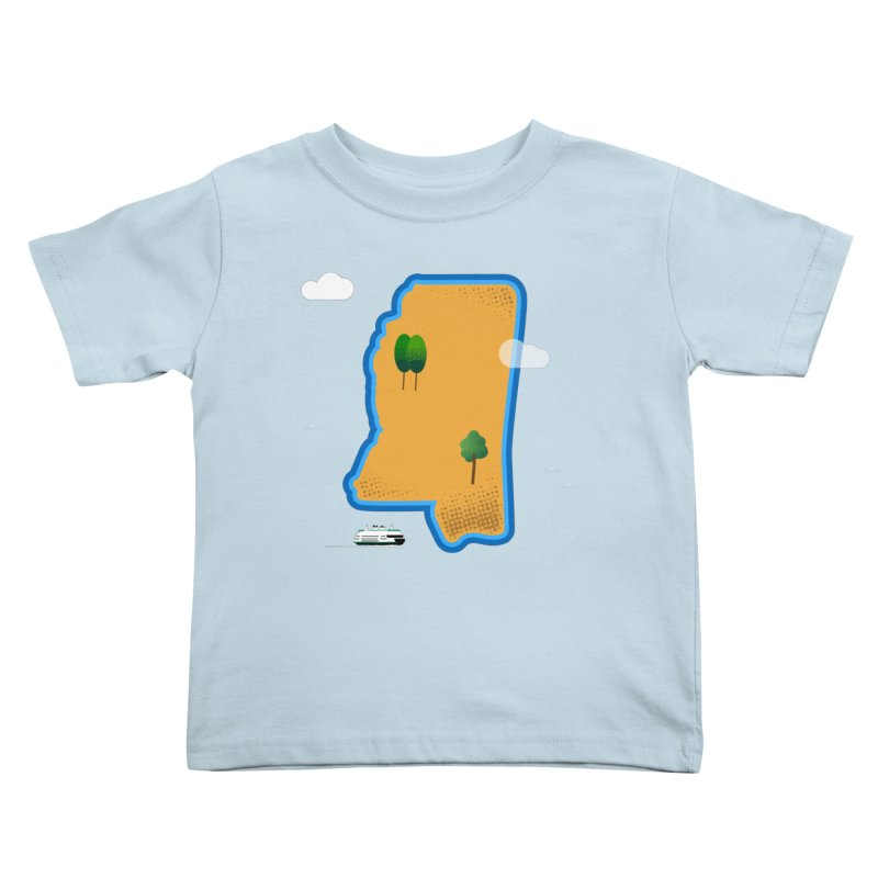 Mississippi Island Kids Toddler T-Shirt by Illustrations by Phil
