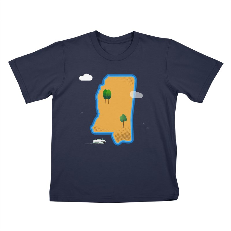 Mississippi Island Kids T-Shirt by Illustrations by Phil