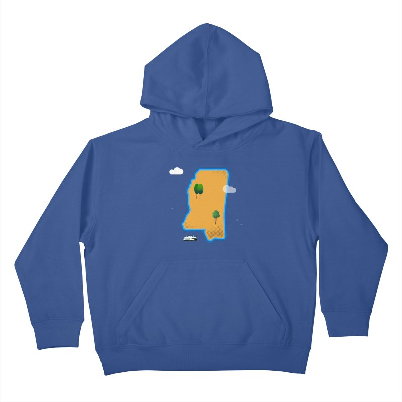 Mississippi Island Kids Pullover Hoody by Illustrations by Phil