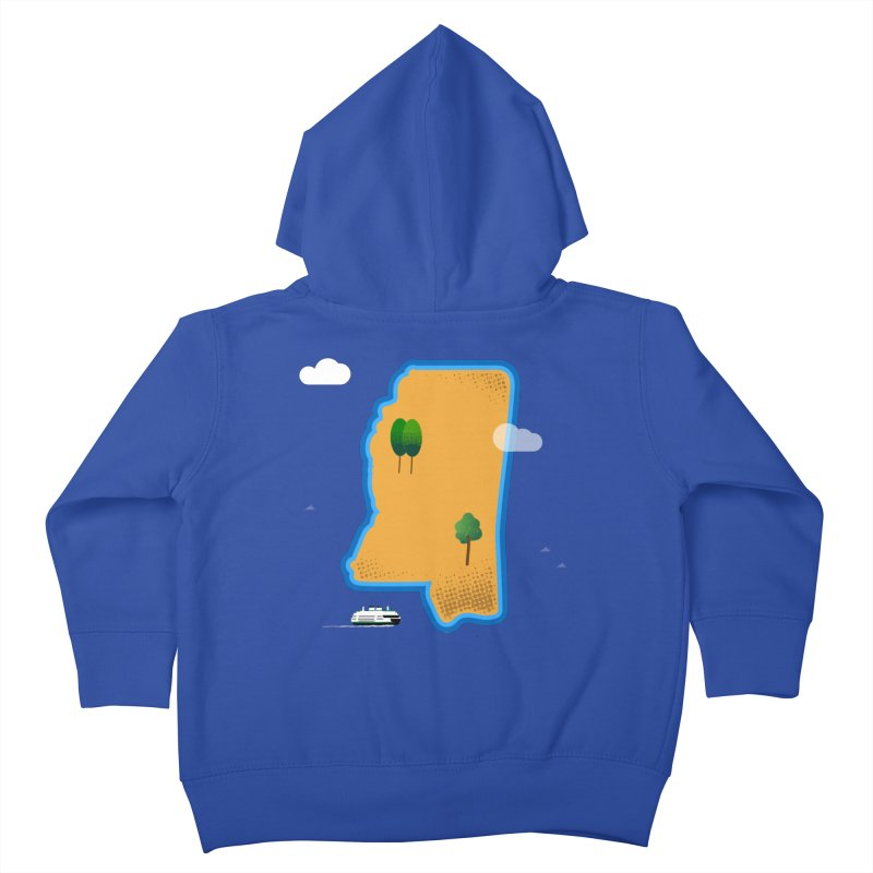 Mississippi Island Kids Toddler Zip-Up Hoody by Illustrations by Phil