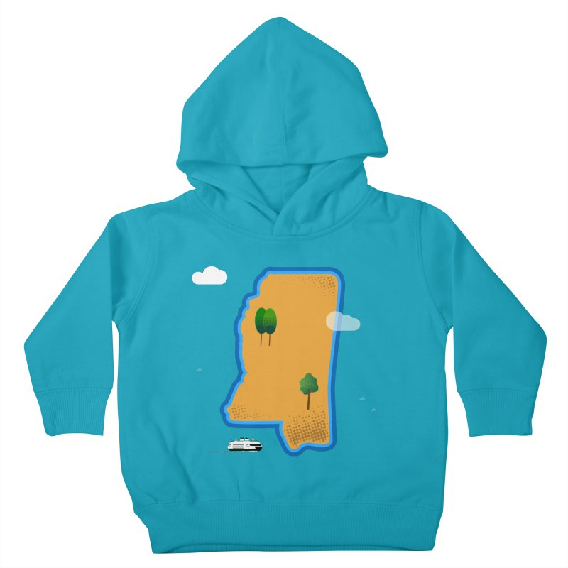 Mississippi Island Kids Toddler Pullover Hoody by Illustrations by Phil