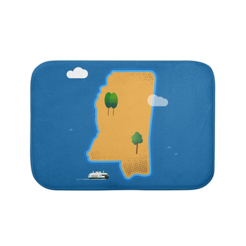 Mississippi Island Home Bath Mat by Illustrations by Phil