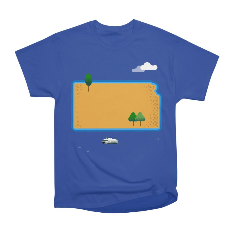 Kansas Island Women's Heavyweight Unisex T-Shirt by Illustrations by Phil