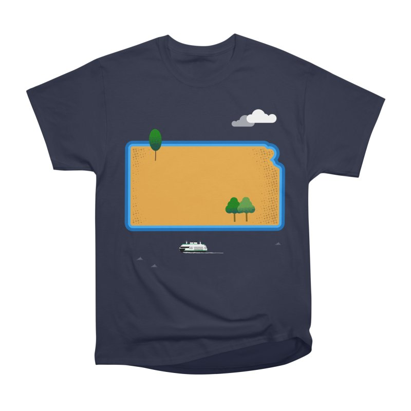 Kansas Island Men's Heavyweight T-Shirt by Illustrations by Phil