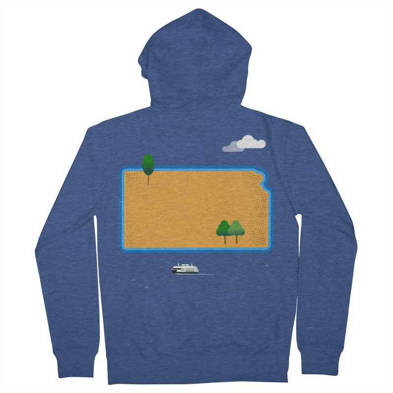 Kansas Island Women's French Terry Zip-Up Hoody by Illustrations by Phil