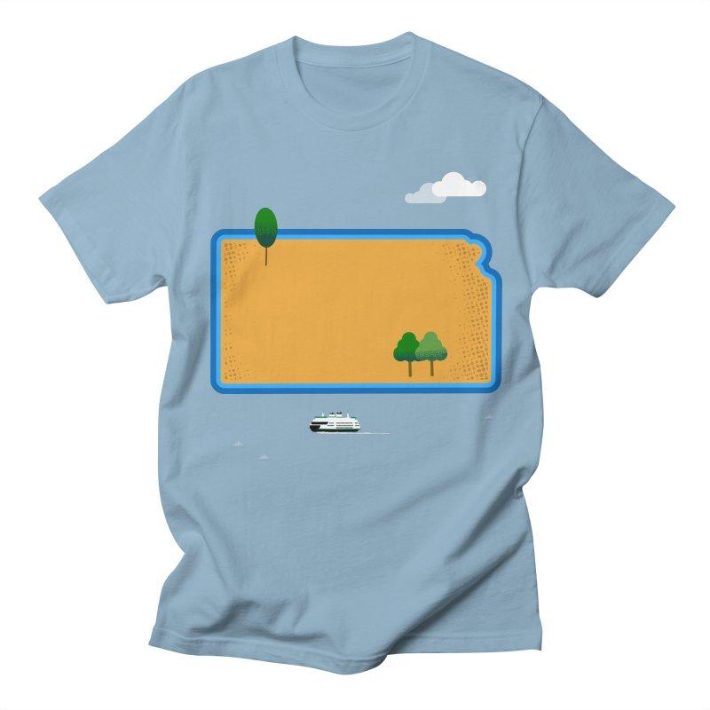 Kansas Island Men's Regular T-Shirt by Illustrations by Phil