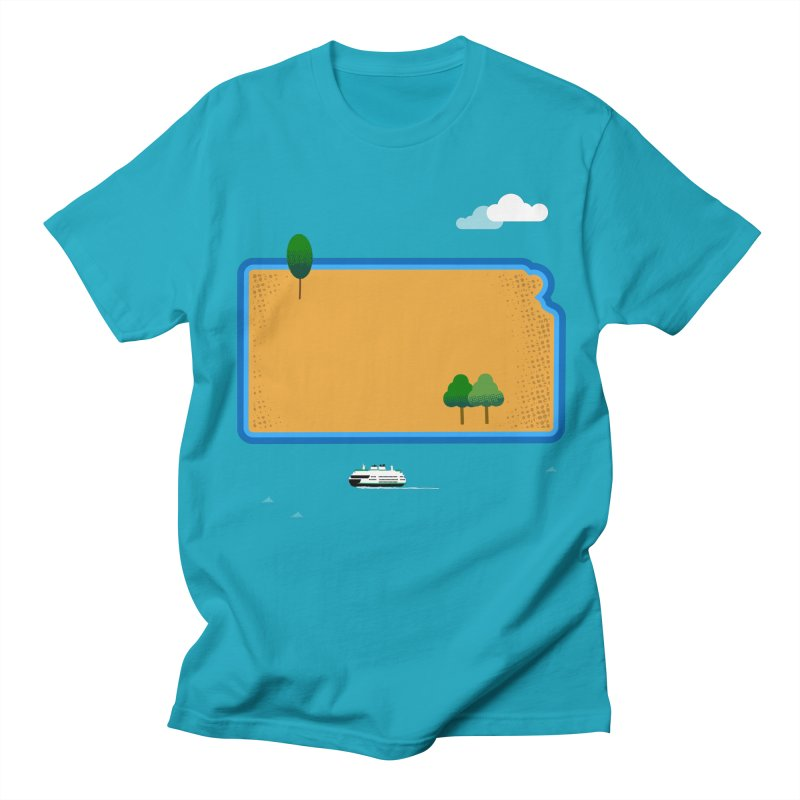 Kansas Island Women's Regular Unisex T-Shirt by Illustrations by Phil