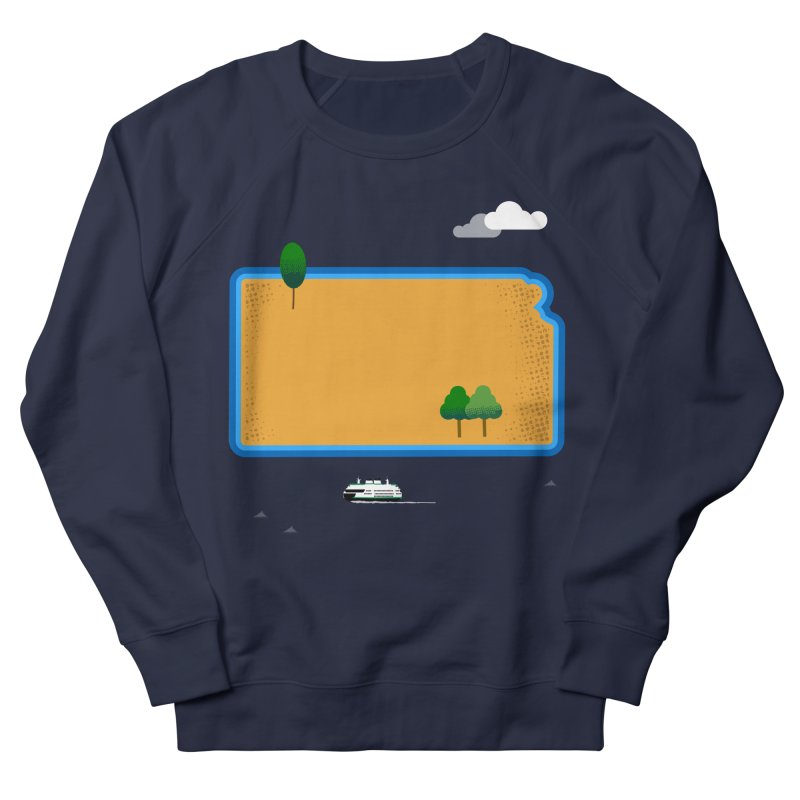 Kansas Island Women's French Terry Sweatshirt by Illustrations by Phil