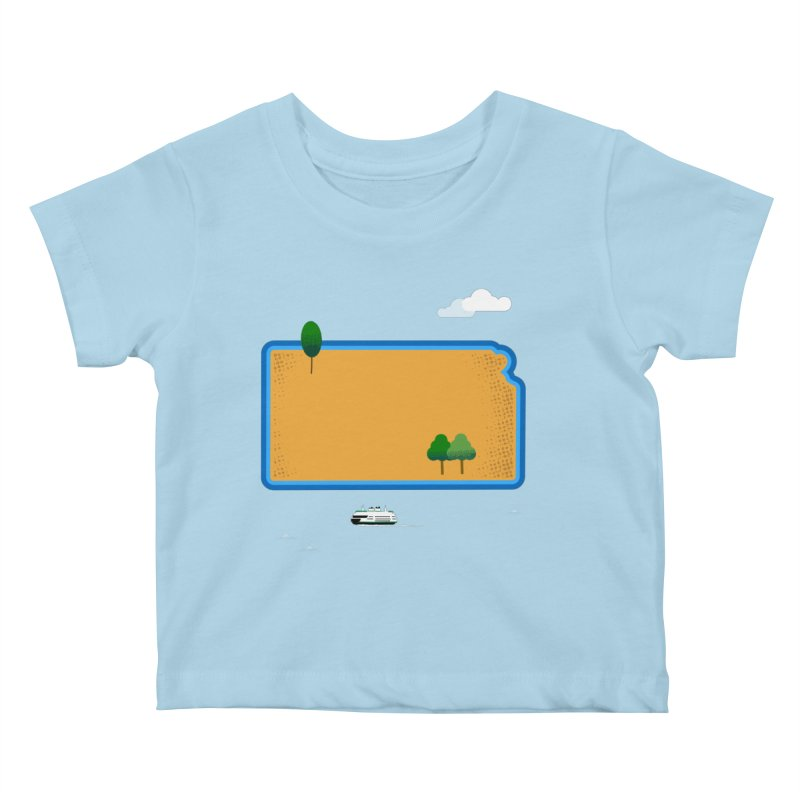 Kansas Island Kids Baby T-Shirt by Illustrations by Phil