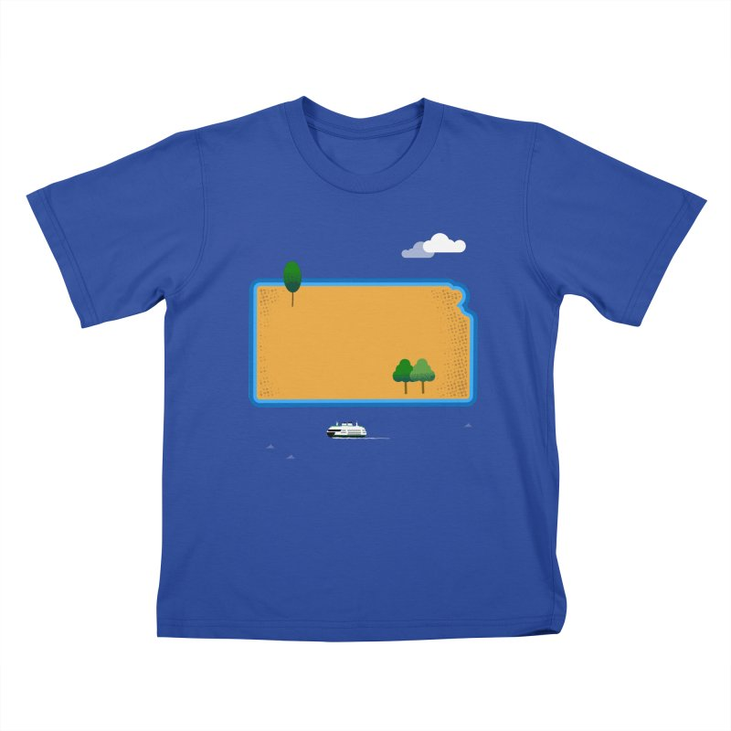 Kansas Island Kids T-Shirt by Illustrations by Phil